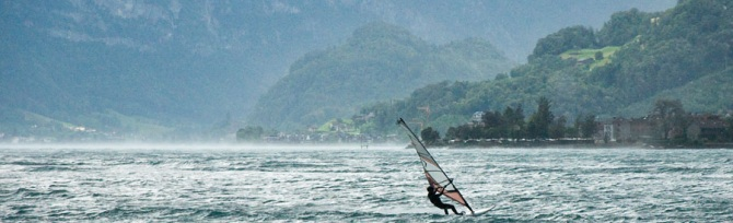 Obstalden Walensee Windsurfen